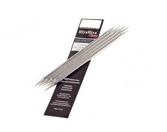 HiyaHiya Sharp Stainless Steel Double Pointed Needles DPN's 6ins / 15cms