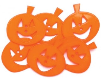 Clearance BUTTONS EXTRA LARGE Smiling Pumpkins button pack