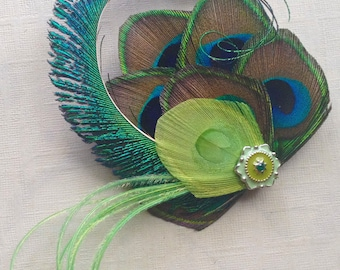 Peacock Feather Fascinator - Made to Order