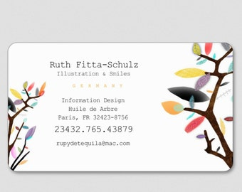 Business cards Rounded Corner - Your information - Rupydetequila Art