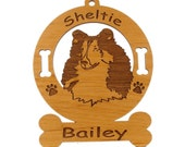 3936 Sheltie Head 2 Personalized with Your Dog's name