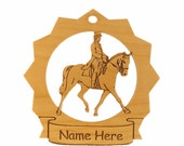 Dressage Horse Wood Ornament 088111 Personalized With Your Horse's Name