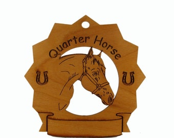 8326 Quarter Horse Head Personalized Wood Ornament