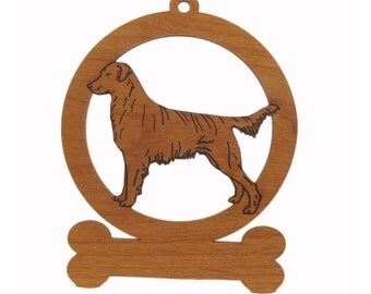 Flatcoat Retriever Ornament  083193 Personalized With Your Dog's Name
