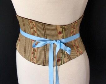 Calico Stripe Corset Belt Waist Cincher Any Size B