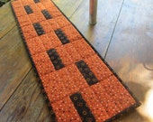 Handmade Quilted Table Runner-Halloween Colors