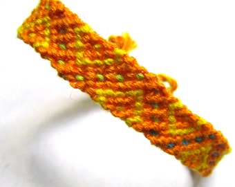 Friendship Bracelet-Orange Zig-Zag