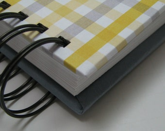 Baby Shower Guest Book/ Address Book/ Baby GuestBook/ New Mom Wisdom/ Keepsake/ Baby Shower Sign In/ Address Guest Book/ Yellow Gray Plaid