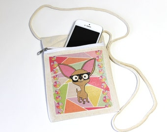 Chihuahua Purse, Mini Bag, Handbag, Phone bag, Glasses