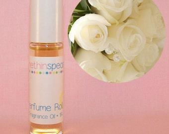 Vanilla Rose Perfume Roll On - Rose Vanilla Perfume