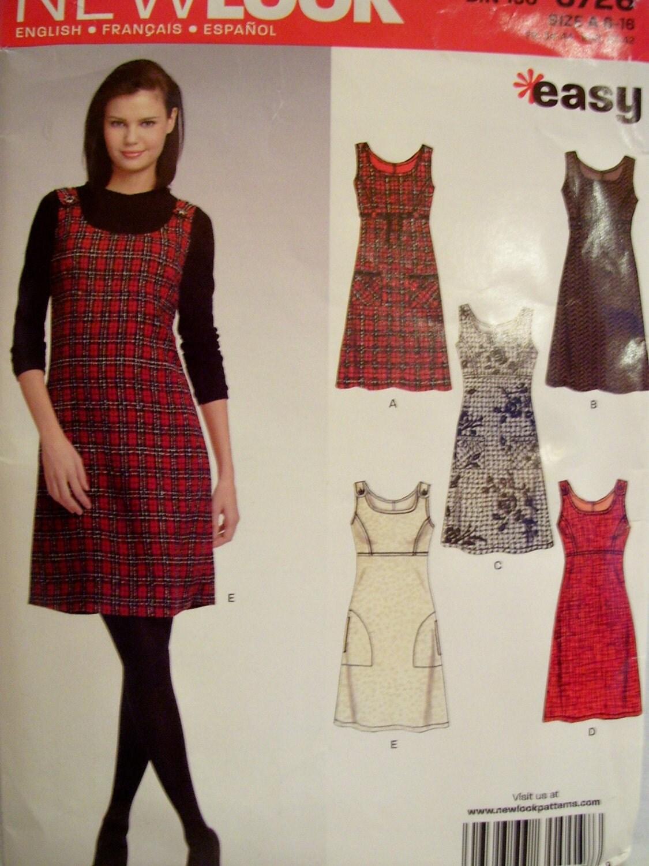 New Look jumper or dress sewing pattern women size