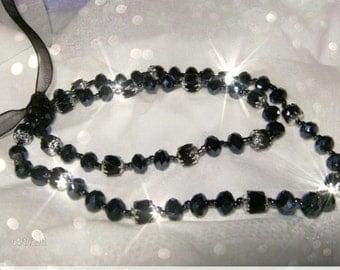 BLACK  BEAUTIES Anklet and Bracelet set