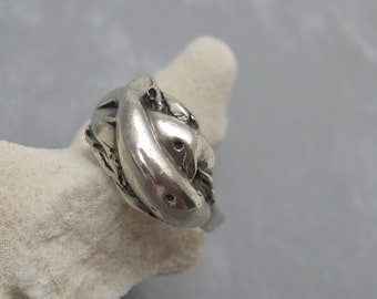 Vintage Sterling Dolphin Ring Jewelry R5808