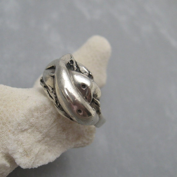 vintage sterling dolphin ring jewelry r5808 by