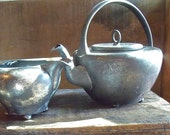 Simpson Hallmiller & Co. SILVER PlaTe TEAPOT and CREAMER-very,very old--maybe 100 + years old?