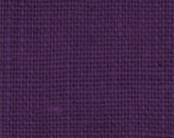 Purple Burlap Fabric By the Yard - 58 - 60 inches wide