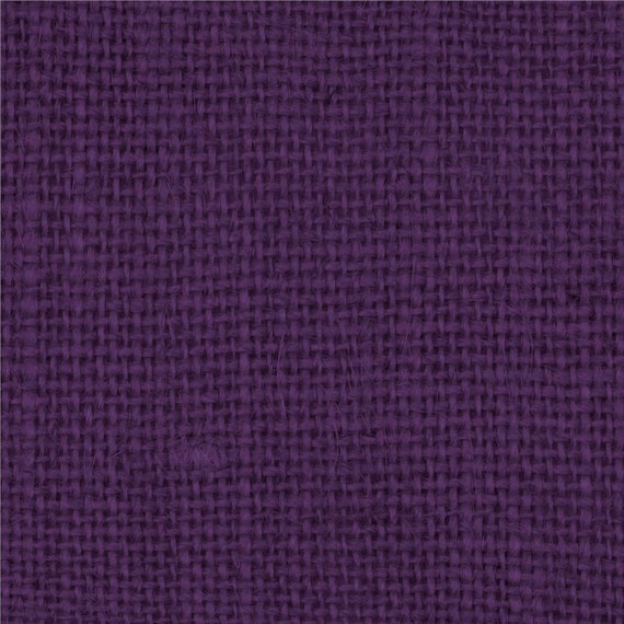 Purple Burlap Fabric By the Yard 58 60 inches by HouseofBurlap