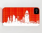 Cincinnati, Oh skyline Silhouette on Phone Case -  iPhone 6S, iPhone 6 Plus, Samsung Galaxy S6, City Gifts, Gift Ideas, Gift ideas for him