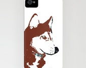 Red Siberian Husky Dog on  Phone Case -   Samsung Galaxy S6, iPhone 5C, iPhone 6S, iPhone 6 Plus, Gifts for Pet Lovers, Husky Gifts