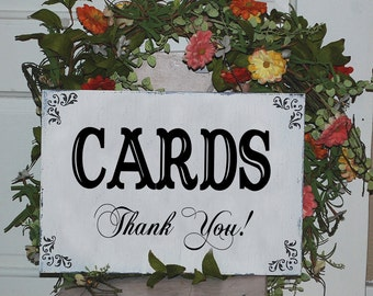 Wedding GIFT and CARDS TABLE, 12x6, Self-Standing Gift Card Table sign