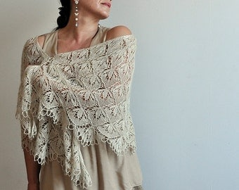 Blooming Stitch Lace Knit Shawl Pattern