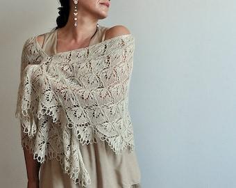 Blooming Stitch Lace Knit Shawl Pattern