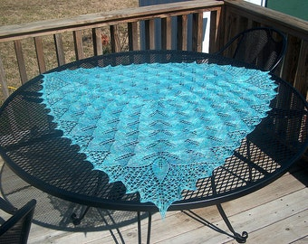 Leaf Envy Lace Knit Shawl Pattern