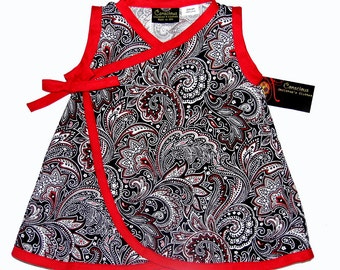 New Punk Rock Paisley Kimono Wrap Baby Dress Size nb-18m