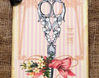 Vintage Style Scissors Tags #227