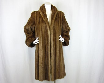 Vintage 50s or 60s Full Length Mink Coat, Sz M
