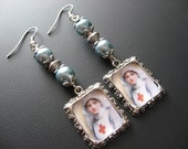 Nurse Earrings Jewelry, Nurses Week,  Red Cross Earrings, Altered Art Earrings Jewelry, Medical Earrings Jewelry