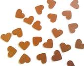 Copper Heart Confetti Shimmer Finish 500 Pieces