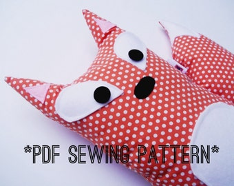 PDF Sewing Pattern Fox Stuffed Animal