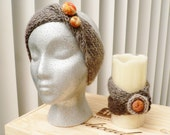 Hand Made Headband and Bracelet...Needle felted decoration