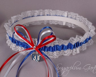 University of Kansas Jayhawks Lace Wedding Garter