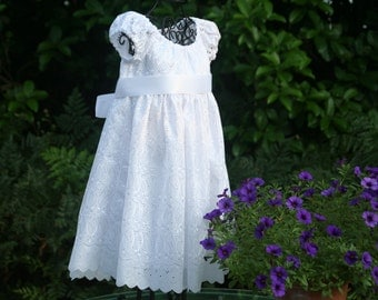 Handmade Flower girl dress, baptism or special occasion  Sizes 1..2..3..4.5..6..7.and 8