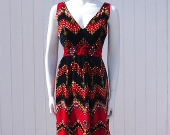 Pretty Vintage 1960's Velveteen Dress • Shannon Rodgers for Jerry Silverman • Psychedelic Print