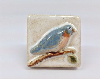 2x2 Ceramic Bluebird Tile