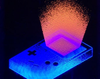 Customizable Laser-Etched Game Boy Light Art