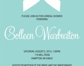 Tiffany INSPIRED Bridal Shower Invitation - Digital Download