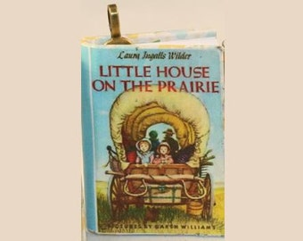 Little House on the Prairie Mini-Book Pendant - Laura Ingalls Wilder - Little House on the Prairie - Jewelry - Book Pendant - Novel Jewelry