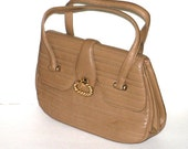 Vintage Handbag - Morris Moskowitz MM - Leather Capeskin - Brown - Coin Purse - Mod Sixties