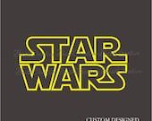 Star Wars Vinyl Wall Decal logo outline 137