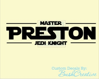 Wall Decal: master jedi knight 047
