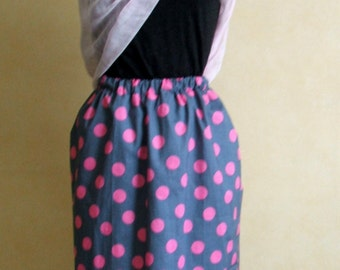 Slip on skirt with Stretch Waist. Skirt PDF, multisize 8 to 32. Beginner project, Prints on Letter and A4  Quick Skirt sew, Multisize PDF