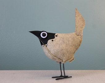 Wool Felt Pip Bird- Splash Stone