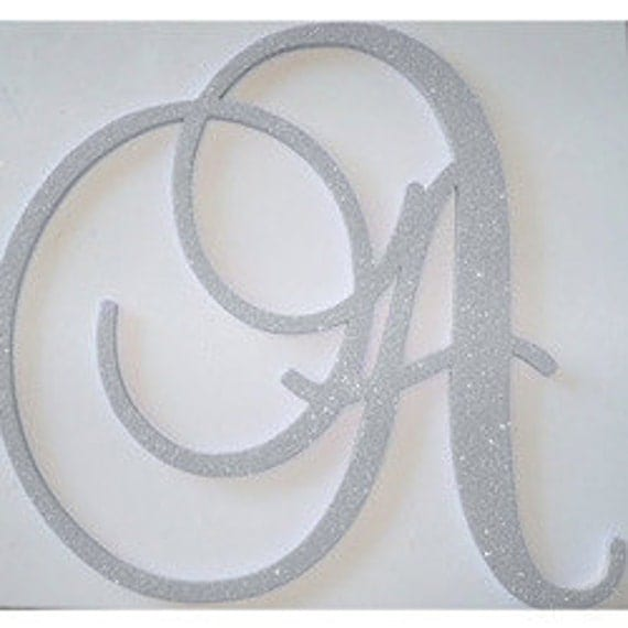 24 inch decorative wall letters glitter initial monogram wall
