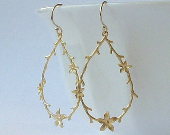 Vine Flower Dangle Earrings