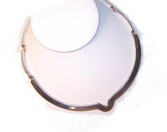 Vintage STERLING SILVER Link Necklace by Victoria/ CONY, Mexico....