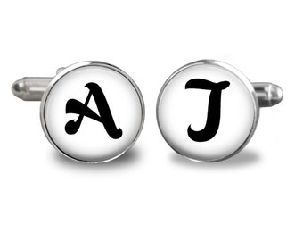 Personalized Mens Cufflinks, Monogram Cufflinks,Mens Accessories, Wedding Cufflinks, Initial Monogram Cufflinks,Groom , Groomsman,Best Man